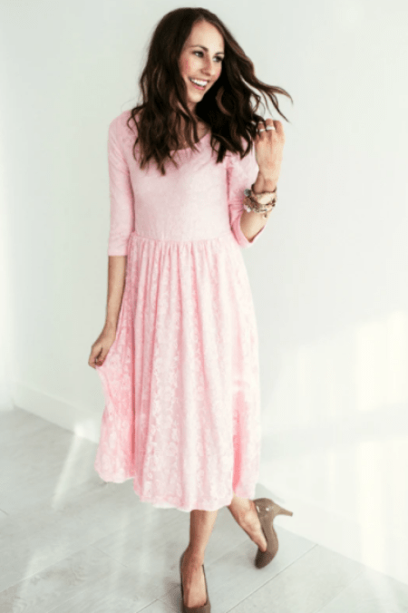 Sign-Here-Signature-Clothing-Pink-Lace-Modest-Dress-Sleeves