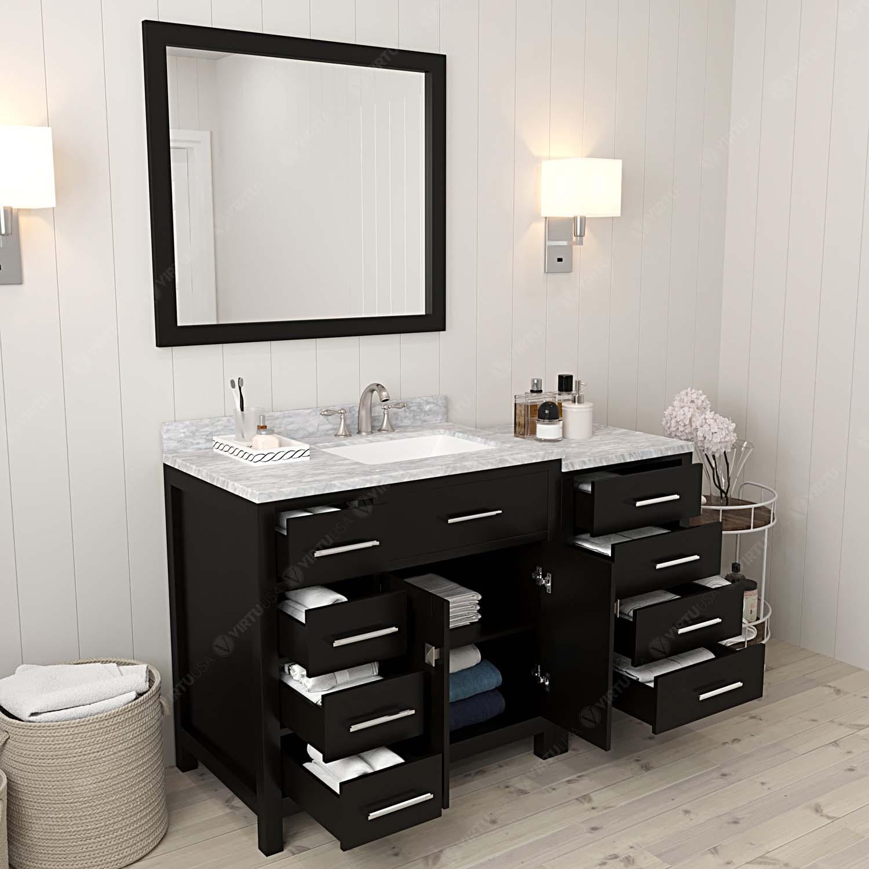 caroline parkway 57 single vanity ms 2157l bathroom vanities virtu usa