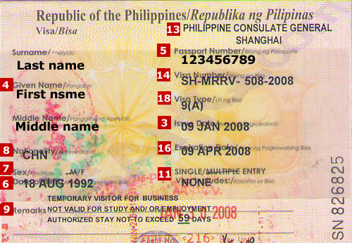 philippines visa application