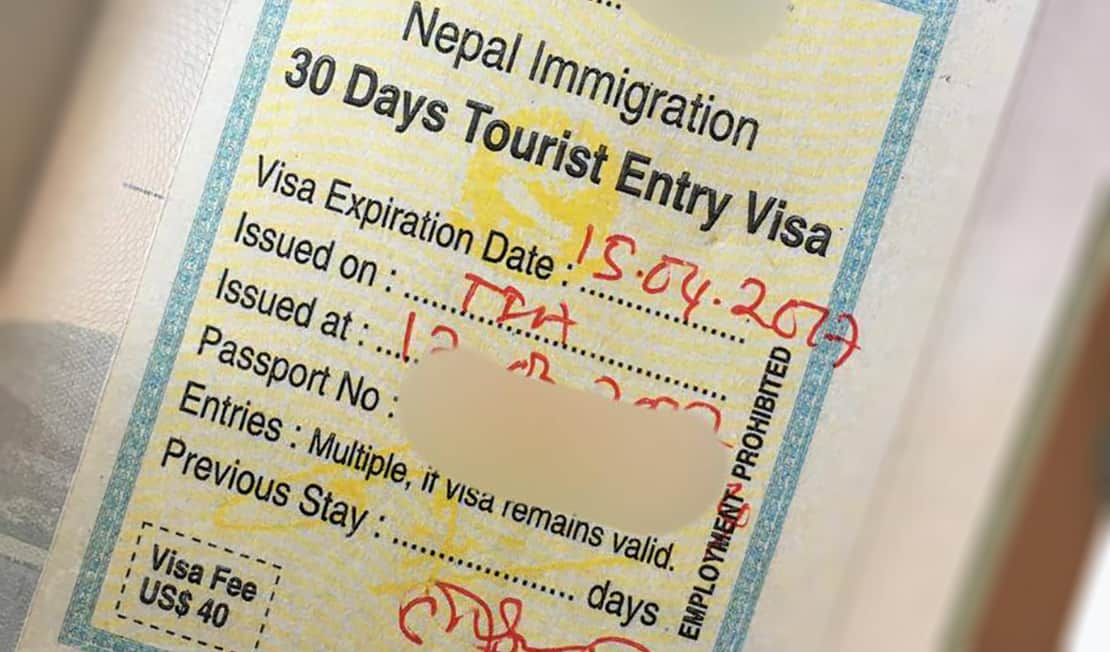 nepal visa requirements