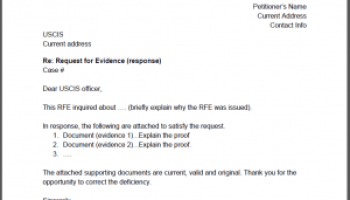 I 129F Request For Evidence RFE