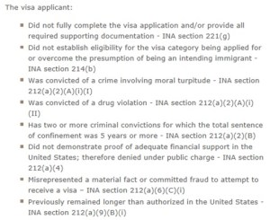 K-1 fiance visa denial reasons from the Affidavit of suport I-134