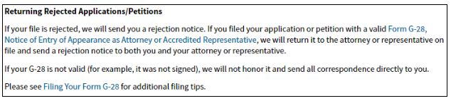 The USCIS Lockbox facilities can reject your I-129F petition for a fiance if things are missing