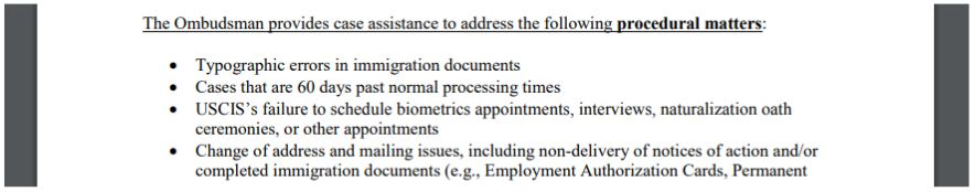 What the ombudsman can do for your fiance visa status errors with the USCIS