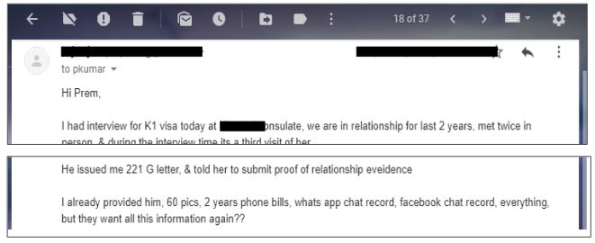 conversation with someone who got the 221(g) denial during the interview. There's confusion surrounding what makes up denials