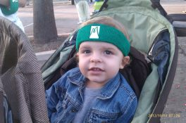 My nephew ready to race!