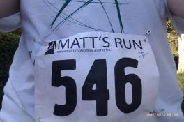 #546 - Alisia's number for the run.