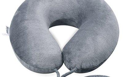 Almohada de Viaje con espuma viscoelástica, almohada cervical