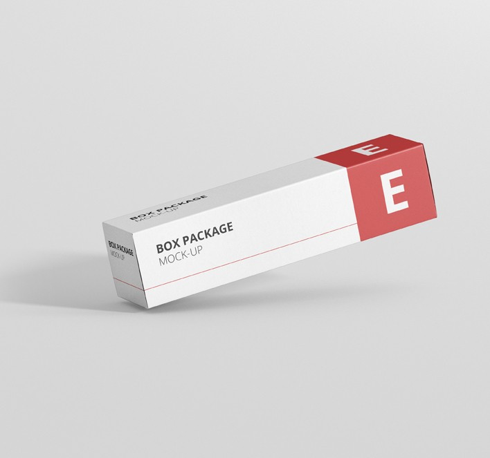Download Package Box Mock-Up - Long Rectangle - Premium and Free ...