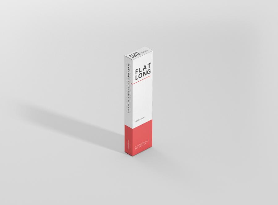 Download Box Mockup Flat Long Rectangle - Premium and Free Mockups