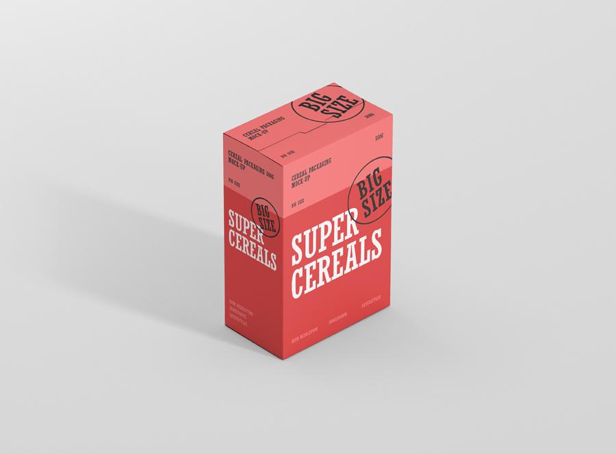 Download Cereals Box Mockup Big Size - Premium and Free Mockups