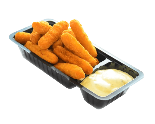 Portie gebakken visfriet