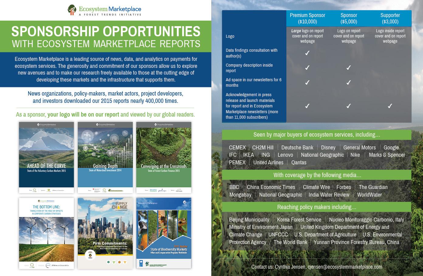 Ecosystem Marketplace Flyer