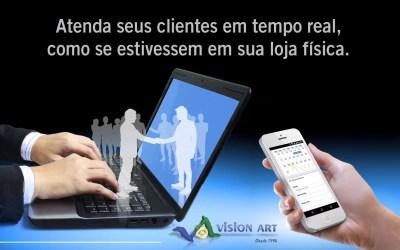 Atenda seus clientes como se estivessem na loja física, sistema inteligente de chat online.