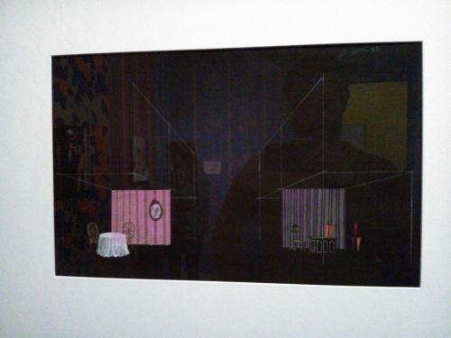 La boutique de parapluies et la salle à manger, concepts de Bernard Evein vers 1970 (je n'ai pas pris le cartouche en photo, la honte).