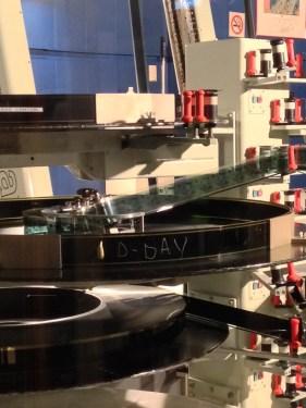 La bobine de D-Day chargé sur le projecteur OMNIMAX de la Géode en sortie de projection.