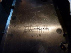 Date de fabrication des pièces dans les deux parties de la coque.