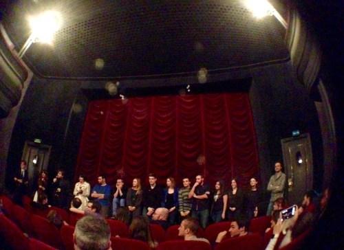 L'équipe de l'Émissaire des étoiles au Studio des ursuline, le 27 mars 2015.