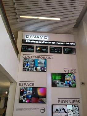 À la sortie de l'expo Dynamo, le Grand Palais avait sorti l'artillerie lourde, avec photos Instagram et statistiques sur de nombreux écrans.