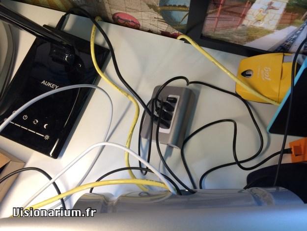 hub USB vu du dessus