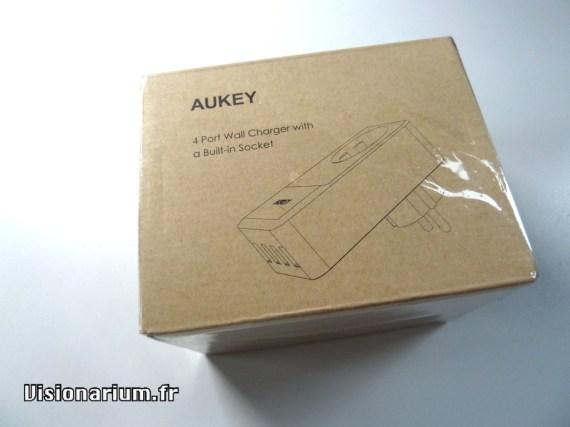 boîte du chargeur mural Aukey