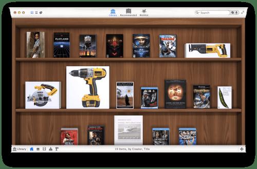 Interface de Delicious Library 3. Photo : Ars Technica.