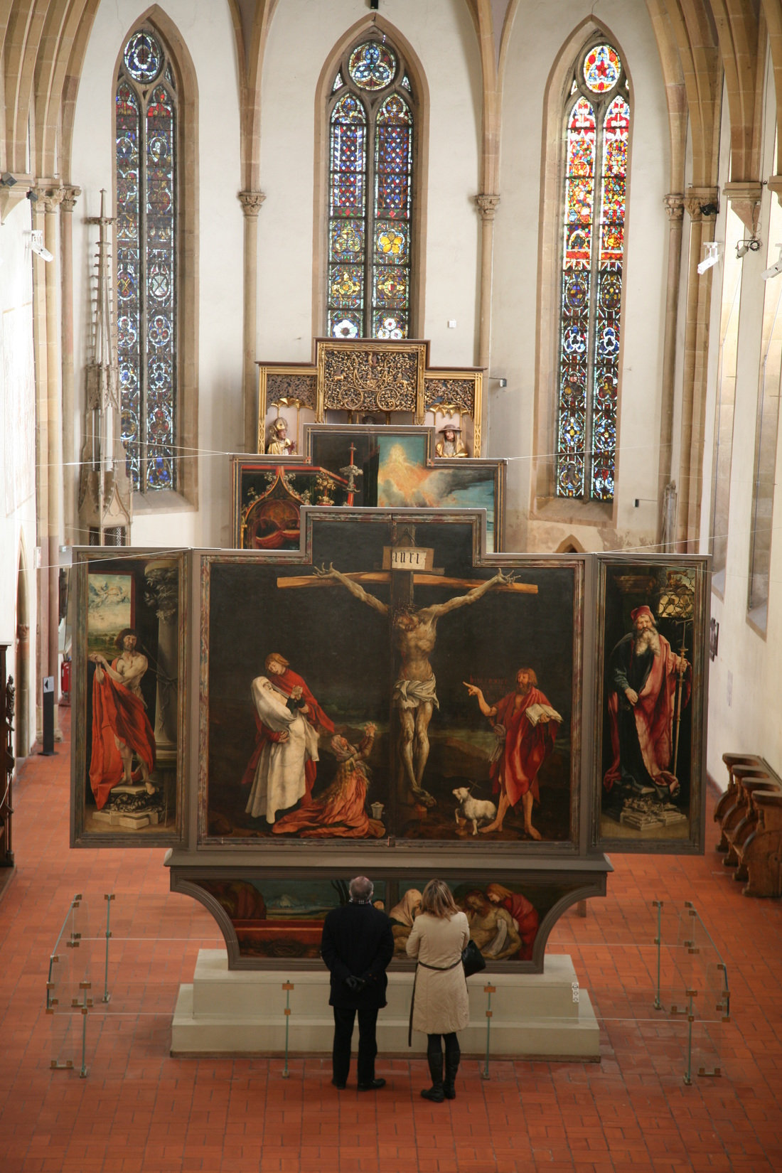 View of the Isenheim Altarpiece, Nikolaus Hagenauer and Matthias Grünewald, c 1512-1516