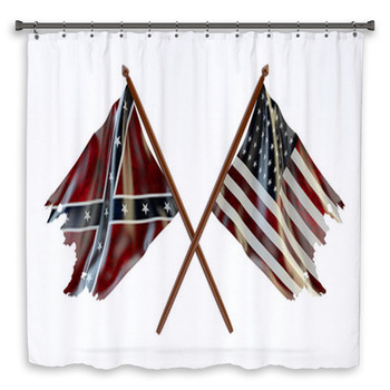 american civil war and merorial day shower curtain