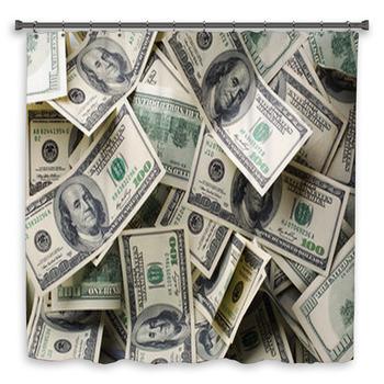 heap of money custom size shower curtain