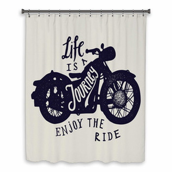 life is a journey enjoy the custom size shower curtain