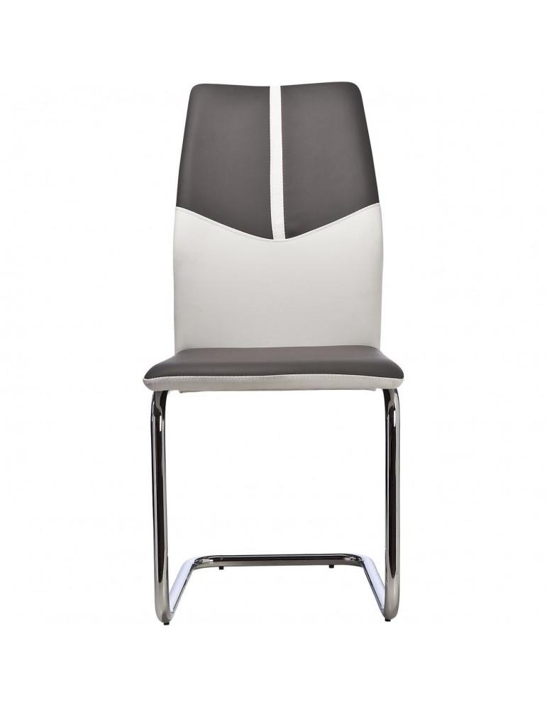 lot de 4 chaises hydra gris et blanc