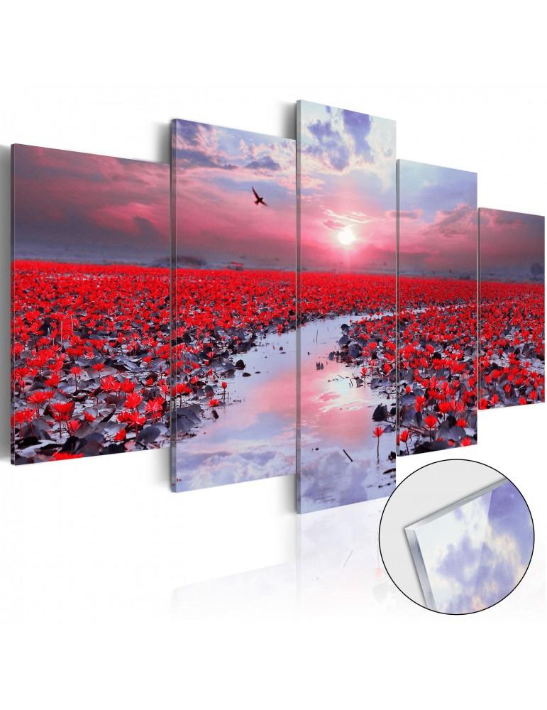 tableau sur verre acrylique the river of love glass