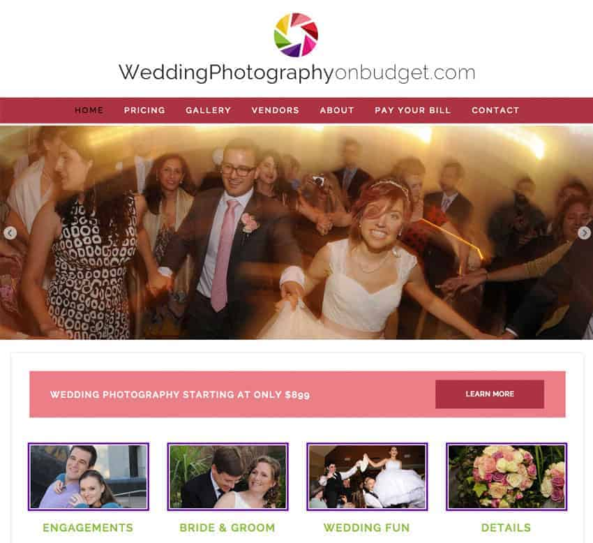 Wedding Photography on a Budget Website