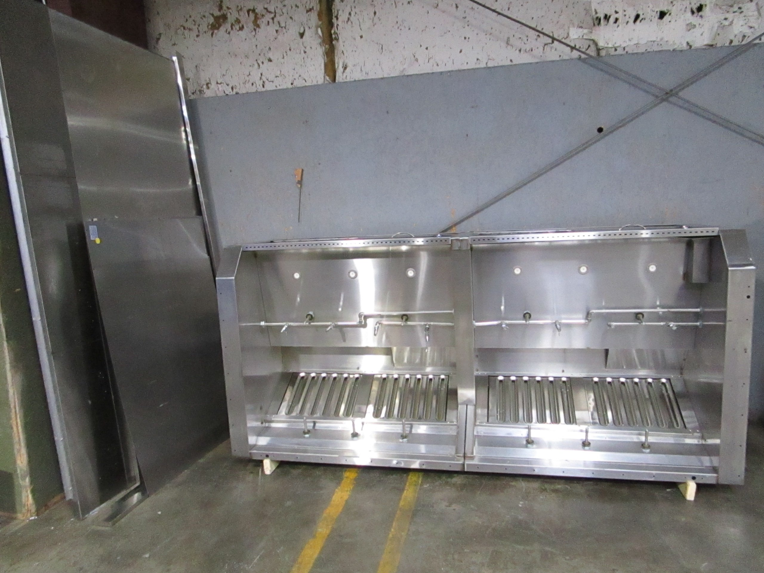 wells wvu96 109 ventless exhaust hood with ansul system w frame panels