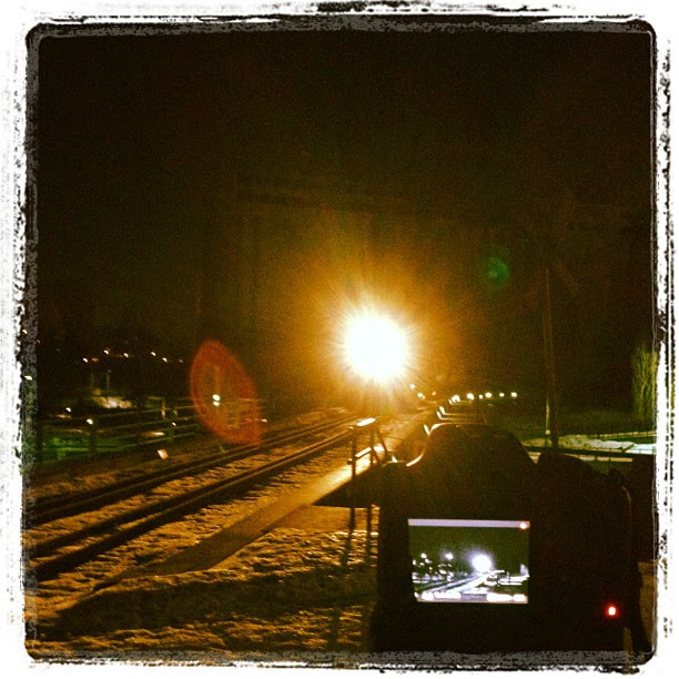 "Vision Éternel Instagram still shared by Jeremy Roux on the first night from the video shoot of ""Pièce No. Trois"", 2012."