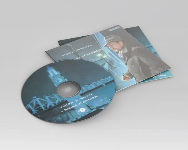 Vision Eternel For Farewell Of Nostalgia Compact Disc Mockup