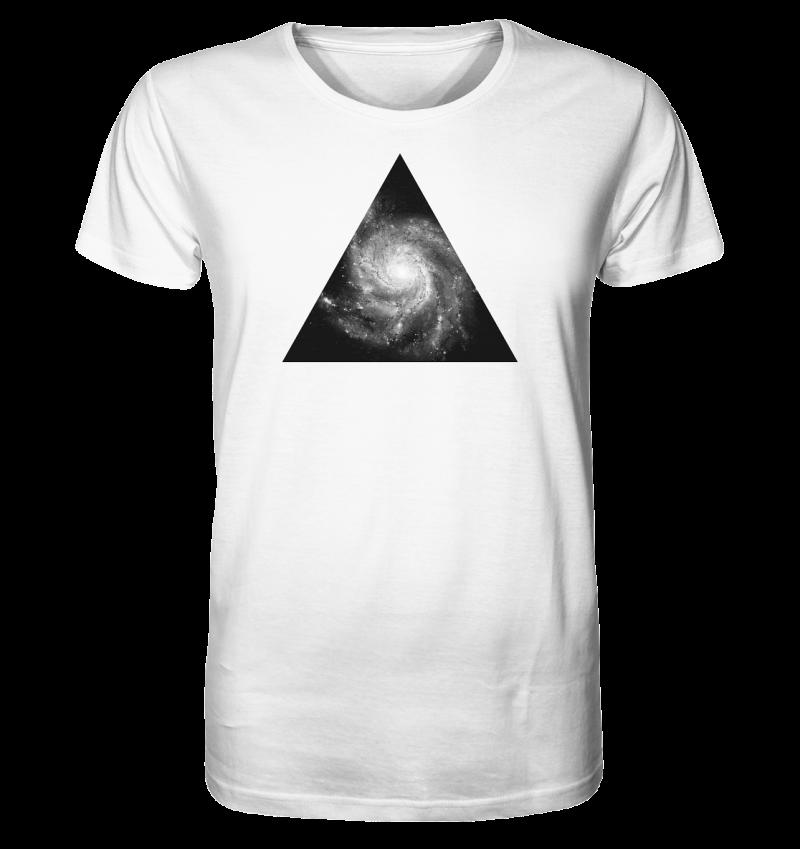 Universe - Galaxie Motiv auf einem Bio Baumwoll HerrenShirt