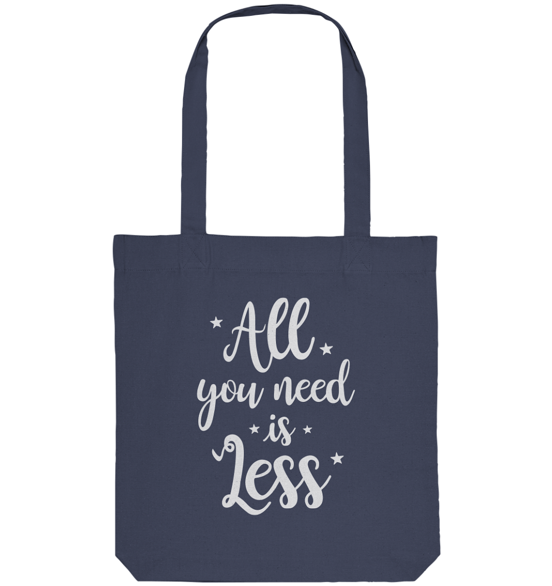 front organic tote bag 42475c 1116x 1 All You Need Is Less - Organic Tote-Bag