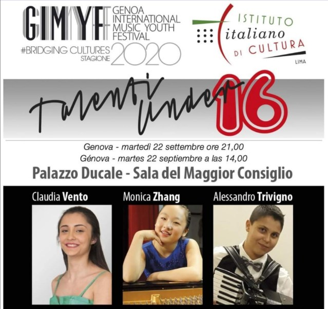 "GENOA INTERNATIONAL MUSIC YOUTH FESTIVAL ""TALENTI U16"""