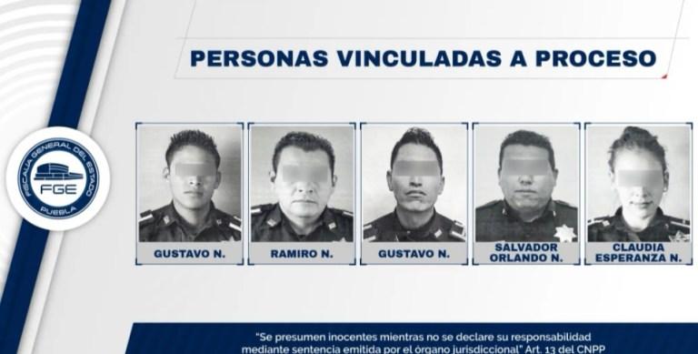 FISCALÍA DE PUEBLA OBTUVO VINCULACIÓN A PROCESO DE POLICÍAS MUNICIPALES DE PUEBLA