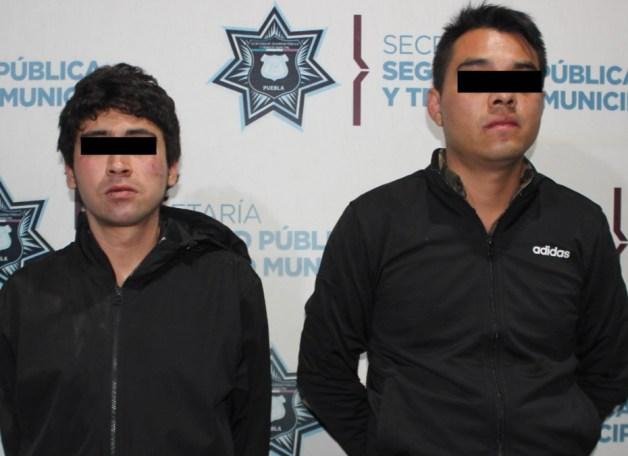 DETUVO SSC DE PUEBLA A DOS PROBABLES ASALTANTES