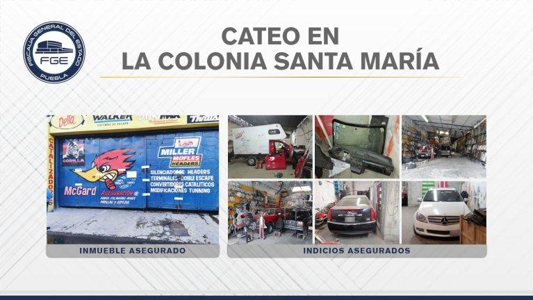 FGE ASEGURÓ EN CATEO CINCO VEHÍCULOS Y DIVERSAS AUTOPARTES