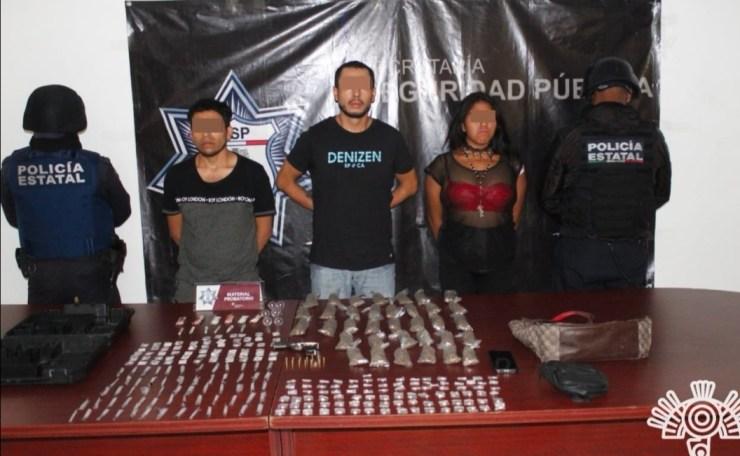 """CAPTURA POLICÍA ESTATAL A TRES PRESUNTOS DISTRIBUIDORES DE DROGA DE """"EL MOI """""""