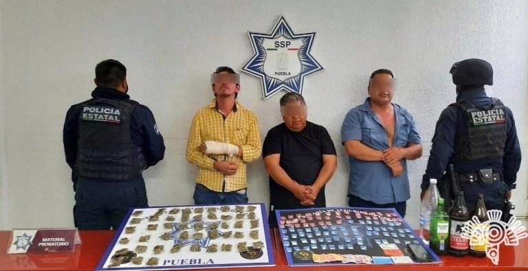 """CAPTURA POLICÍA ESTATAL A TRES PRESUNTOS NARCOMENUDISTAS DE """"LOS LAVADEROS """""""