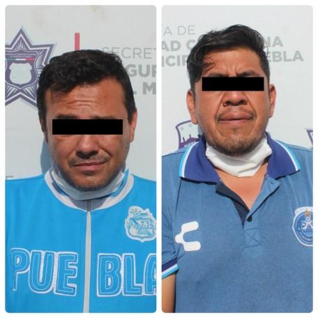 DETUVO POLICÍA MUNICIPAL DE PUEBLA A DOS HOMBRES PRESUNTAMENTE DEDICADOS AL ROBO DE VEHÍCULO