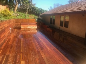 Wood Staining Deck Done