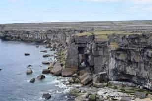 Falling rock cliff at Inishmore