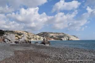 Beach at Aphrodite Rock Cyprus