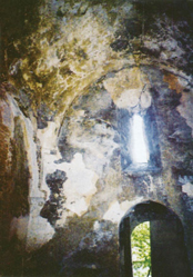 Inside the Church of St Eliseus before restoration