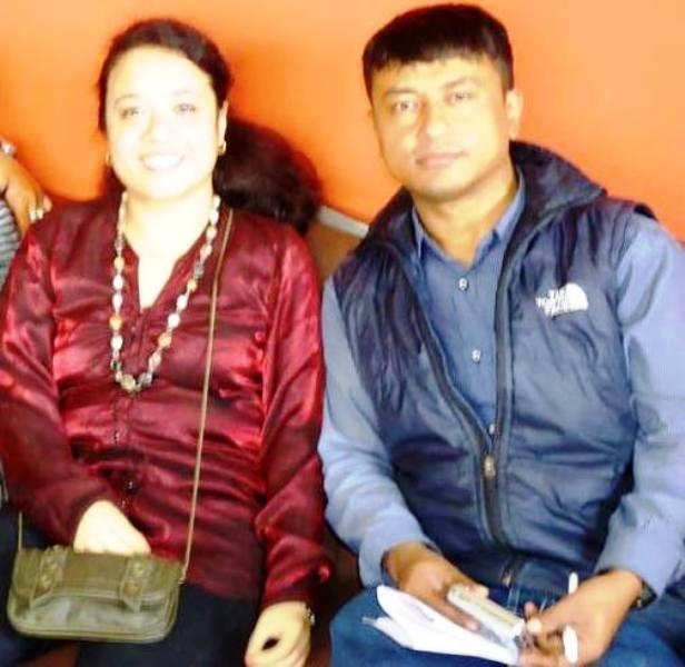 Kamala Shrestha with Progm Presenter Shyam Smrit.